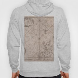 Portolan map of the North Sea, the Norwegian Sea with adjacent coast and countries 1768 Hoody