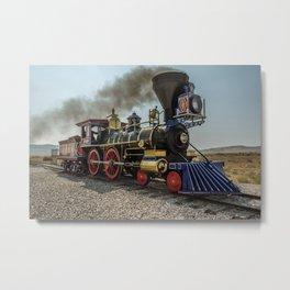 Central Pacific Railroad Jupiter at Golden Spike National Historic Site Utah Transcontinental Metal Print