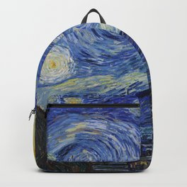 The Starry Night by Vincent van Gogh Backpack