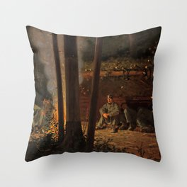 In Front of Yorktown by Winslow Ho mer (1862-63) Throw Pillow