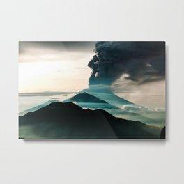 Mount Agung Volcanic Eruption Metal Print