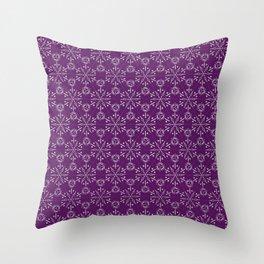 Hexagonal Circles - Elderberry Throw Pillow