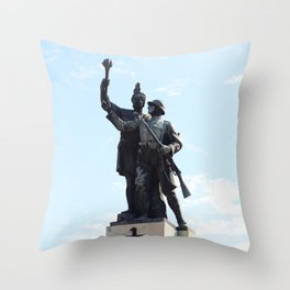 Drobeta heroes statue top Throw Pillow