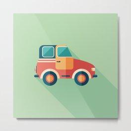 Toy Retro Car Metal Print