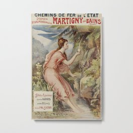 ETAT Martginy les Bains Vintage Travel Poster Metal Print