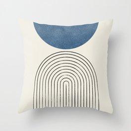 Arch Balance Blue Throw Pillow
