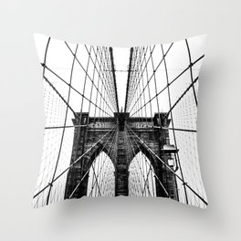 Brooklyn Bridge Web Throw Pillow