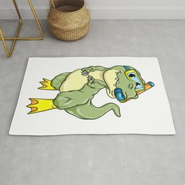 Dinosaurs at Diving with Swimming goggles Rug