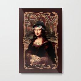 Chicana Mona Lisa Metal Print