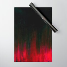 Red and Black Abstract Wrapping Paper