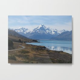 On the road to Aoraki / Mount Cook Metal Print
