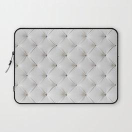 White Tufted Laptop Sleeve