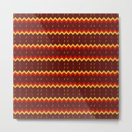 Lightning Arrows (Yellow/Red) pattern Metal Print