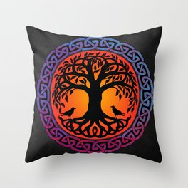 Viking Yggdrasil World Tree Throw Pillow