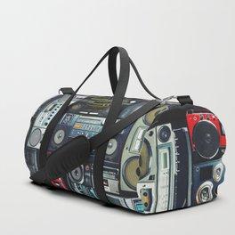 Retro Pop Eighties Boombox Radio Pattern Duffle Bag