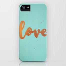 Acrylic 5 - Love! iPhone Case