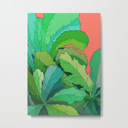 lettuce leaves Metal Print