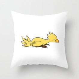 Sleeping chocobo chick Throw Pillow