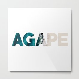 Ocean Agape Metal Print