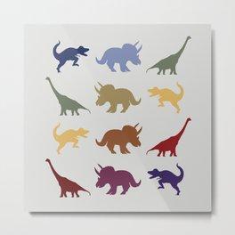 Dino Parade 3 Metal Print