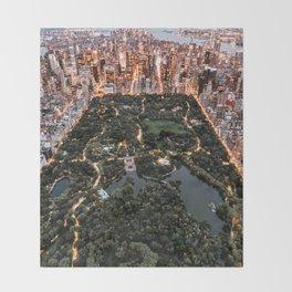 Central Park New York Throw Blanket