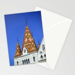 budapest matthias church roof Stationery Cards
