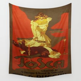 Vintage poster - Tosca Wall Tapestry