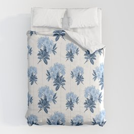 Blue Rhododendron Comforters