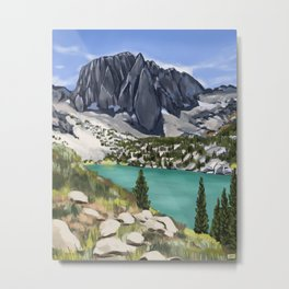 Big Pine Lakes Metal Print