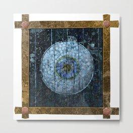 Faded Blue Eye Artifact Metal Print