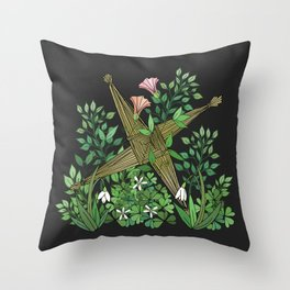 Saint Brigid's Cross in the Celtic Spring Throw Pillow