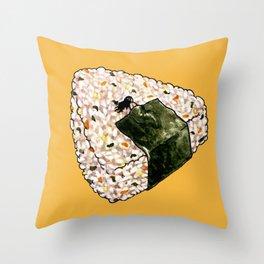 Onigiri Snooze Throw Pillow