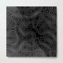 Topographic Map 01C Metal Print