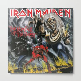 The Number of the Beast - Iron - Remastered Edition - Maiden Metal Print