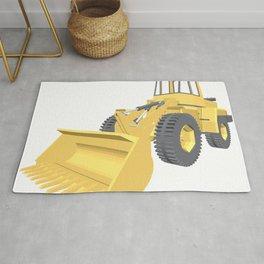 Bulldozer 3D projection vector. Rug