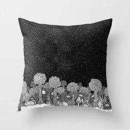 Shugs Forest Throw Pillow