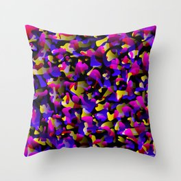 Creative spotted pink and colored spots and splashes of paint. Throw Pillow