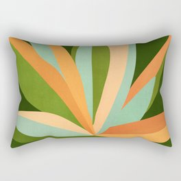 Colorful Agave / Painted Cactus Illustration Rectangular Pillow
