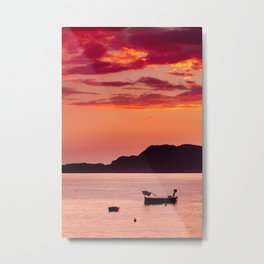 Sunset in Montenegro Metal Print