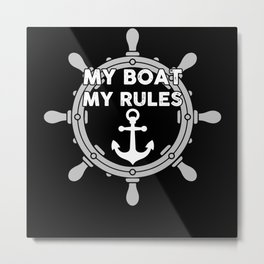 Boat Captain Boater Metal Print
