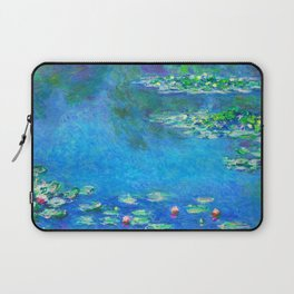 Claude Monet Water Lilies Painting French Impressionism Art Print Waterlilies Painting Flower Garden Laptop Sleeve