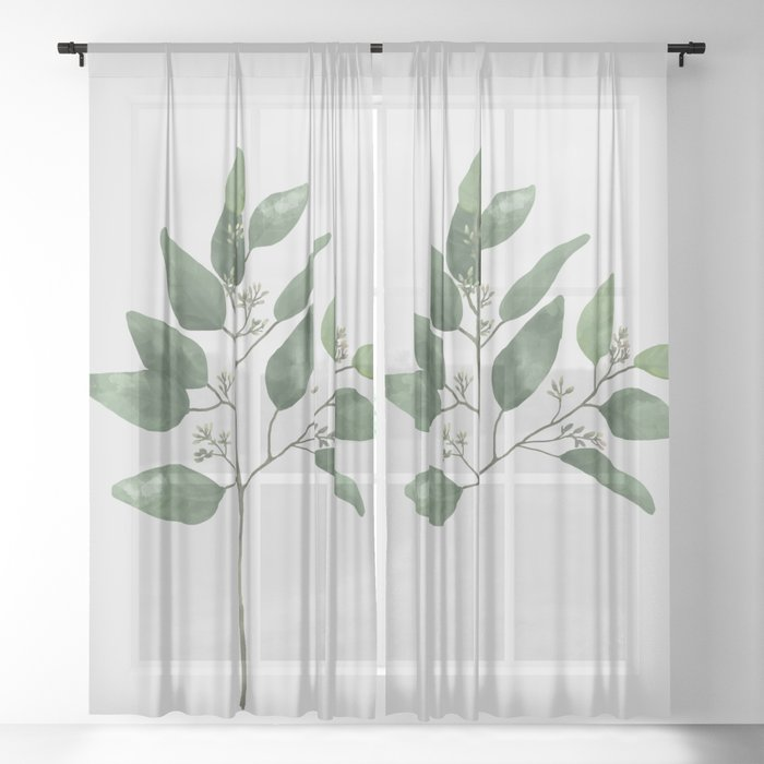 Branch 2 Sheer Curtain