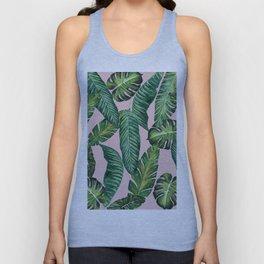 Jungle Leaves, Banana, Monstera II Pink #society6 Unisex Tank Top