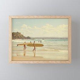 Vintage Surf Girls Framed Mini Art Print