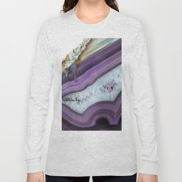 Purple Agate Slice Long Sleeve T-shirt