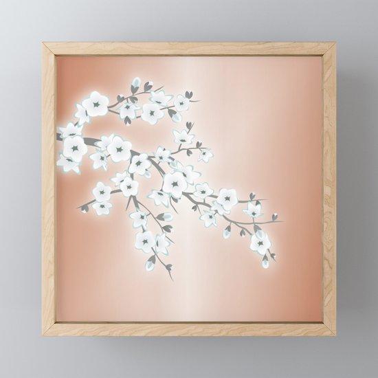 Rose Gold White Cherry Blossom by ninabaydur