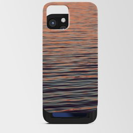 Sunset on the water iPhone Card Case