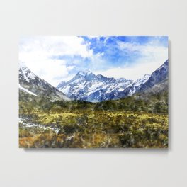 aoraki, mount cook, new zealand, alpine Metal Print