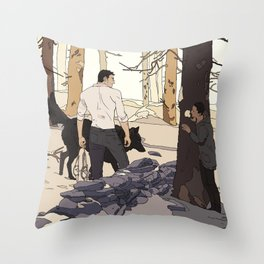'I can see you there' Throw Pillow