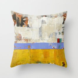 Amenity Abstract Landscape Yellow Modern Shawn McNulty Throw Pillow
